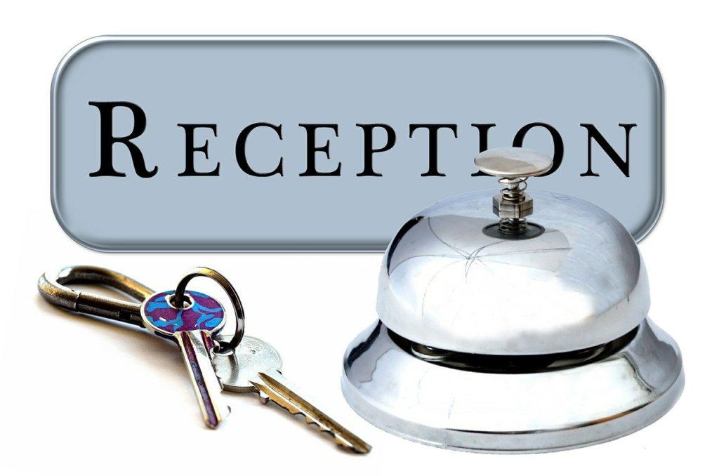 Hotel-Rezeption